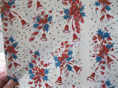 Vintage Christmas Gift Wrap 2 Full Sheets by WishbookChristmas