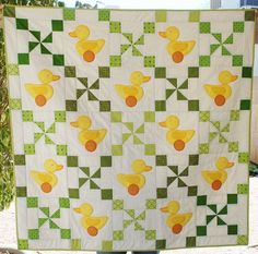 Charley, Dee, & Me: Just Ducky Baby Quilt - pattern by Bonnie Sullivan