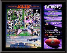"New England Patriots Super Bowl XLIX Champions 12"" x 15"" Sublimated Plaque - Fanatics Authentic Certified"