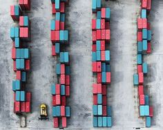 Find Forklift (medium) by Tommy Clarke online. Buy art online with confidence with free art advisory. Aerial Photography, Color Photography, Colourful Photography, Rise Art, Buy Art Online, Contemporary Artwork, Birds Eye View, Red And Blue, Medium