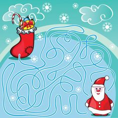 Maze game or activity page for kids - Stock Vector , #spon, #activity, #game, #Maze, #page #AD Christmas Maze, Christmas Puzzle, Christmas Games For Kids, Maze Games For Kids, Mazes For Kids, Vector Game, Kids Vector, Kids Cartoon Characters, Cartoon Kids