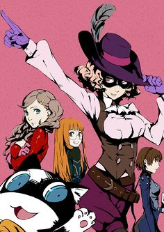 Persona 5, Ann Takamaki, Haru Okumura, Futaba Sakura, Makoto Niijima and Morgana, Persona 5