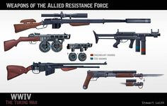 WWIV Rifles, Stewart Leith on ArtStation at https://www.artstation.com/artwork/wwiv-rifles
