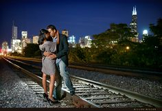 """Urban engagement shot. My engagement client wants a RR track photo but they're not """"country"""". This would work!!!"""