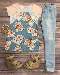 Blooming Lace Top: Peach from privityboutique