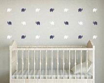 Animal Wall Decals Nursery Wall Decor Elephant Hippo Ostrich - Nursery wall decals elephant