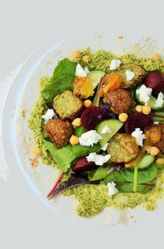 Falafel, Beetroot and Goats Cheese Wraps - National Vegetarian Week #veggieweek @nvw2014 #veggie