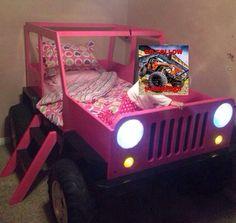 Kids room on pinterest castle bed princess castle and jeeps - Jeep toddler bed plans ...