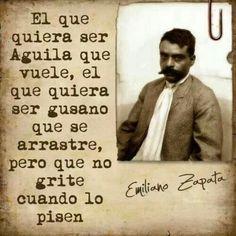 Emiliano Zapata, caudillo de la revolucion mexicana.  ~Repinned Via Haide Hernandez