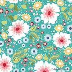Fabric... Apple of My Eye Main on Blue by Riley Blake Designs
