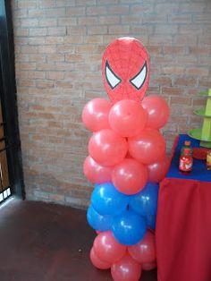 Decoration ideas for Spiderman party Spiderman Balloon, Spiderman Theme Party, Superhero Birthday Party, 6th Birthday Parties, Man Birthday, Birthday Party Decorations, Avengers Birthday, Balloon Decorations, Hulk