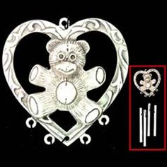 American Craftsmanship Teddy Small Pewter Wind Chime