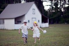 cute flower girl and ring boy