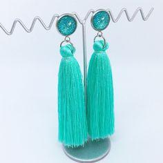 Turquoise tassel earrings - $20AUD - allure style