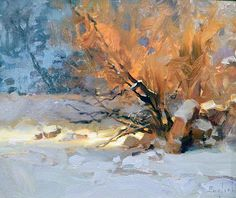Artwork of Oil Painter Kim English Snow Scenes, Winter Scenes, Kim English, Winter Pastels, Art Students League, Winter Painting, Water Art, English Artists, Classic Paintings