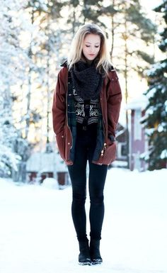 I love all these winter themed clothes. Cant wait for Christmas. The picture is amazing with the snow in the background
