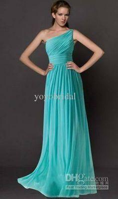 Dark Teal Bridesmaid Dresses One Shoulder 51085 | BITNOTE