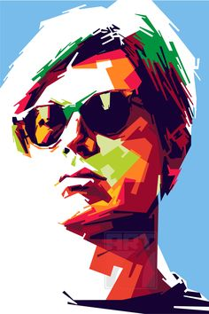 Andy warhol in wpap pop art style from indonesia, andy warho Pop Fashion, Fashion Art, Pop Art Wallpaper, Pop Art Portraits, Andy Warhol, Caricature, Unique Art, Vector Art, Art Drawings