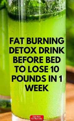 Here is a powerful fat burning detox drink before bed to lose 10 pounds in 1 wee. - Here is a powerful fat burning detox drink before bed to lose 10 pounds in 1 week safely. If you ha - Detox Drink Before Bed, Drinks Before Bed, Detox Before Diet, Detox Cleanse For Weight Loss, Full Body Detox, Cleanse Detox, Health Cleanse, Juice Cleanse, Diet Detox