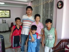 With Mike's children