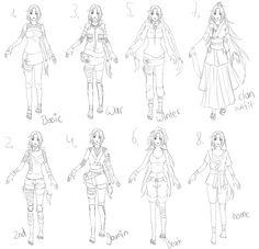 Chou's outfit sheet by Kohane-chan.deviantart.com on @DeviantArt