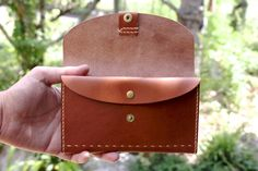 Hand-sewn leather passbook case | of leather goods DURAM FACTORY
