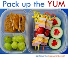 Take it with you! On the road, to camp, to work... Make a simple lunch look irresistible.