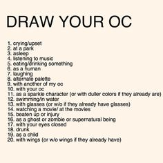 Draw Your OC Meme by Fennix-Cat on DeviantArt