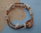 1970's surf jewelry shell macrame - Google Search