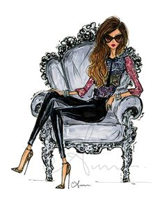 fashionillustr.quenalbertini: Lounging by Anum Tariq