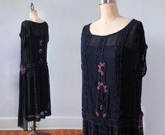 1920er Jahre Kleid / 20 s Perlen von GuermantesVintage auf Etsy