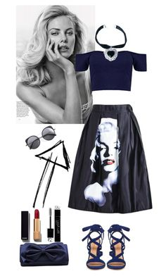 """""""sexy girl"""" by chengyijia on Polyvore featuring Gianvito Rossi, La Regale, Rock 'N Rose, Wood Wood, Chanel, Christian Dior, women's clothing, women, female and woman"""