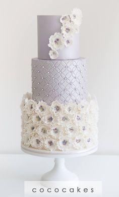 Featured Wedding Cake:COCO Cakes Australia;www.cococakes.com.au; Wedding cake idea.