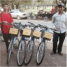 white bicycle rentals to tour temples
