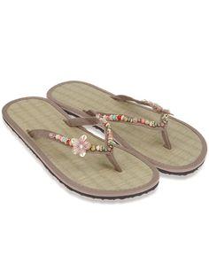 pretty sea greaa flip flops