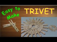 This project is for DIY crafts. Here is easy how to make hot pot trivet and beverage coaster out of cloth pegs. Improve your kitchen design fast and easy!Ple...