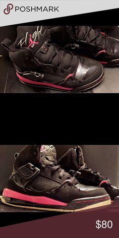 Woman's Jordan Flight Black Pink White Woman's Jordan Flight Black Pink White Jordan Shoes Sneakers