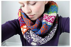 Ravelry: 'My Favourite Things' Infinity Scarf pattern by Jill McGee. I think I might be brave enough to attempt this soon.