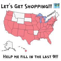 9 states to go lets make it happen!!! The pink states are the ones I have shipped to. 9 states to go who wants to shop with @jmacci7 today?!? States: Montana, Idaho, Wyoming, South Dakota, Arkansas, Alaska, Vermont, Maine, and Delaware!!! Other