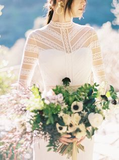 Bold and Modern Bridal Style in Boho Wedding Gowns by Luna de Mare Photography | Wedding Sparrow