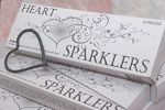 Heart Shaped Sparklers Wedding Packages-Designed specifically for weddings and romantic celebrations. These heart shaped sparklers can be displayed or handed out as favors to guests. Just as traditional wedding sparklers are used, these sparklers can