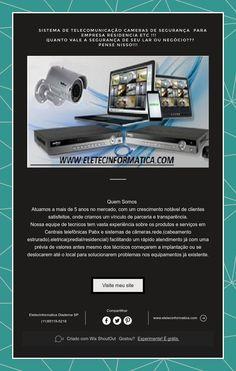 Sistema de telecomunicação cameras de segurança para Empresa residencia etc !!! Quanto vale a Segurança de seu Lar ou…