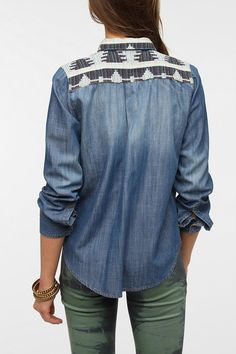 BDG x The Reformation Chambray Shirt  #UrbanOutfitters