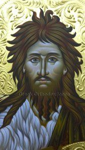 Saint John the baptist - Άγιος Ιωάννης ο βαπτιστής. For more go to https://greekorthodoxicons.wordpress.com/2015/11/26/saint-john-the-baptist-2/
