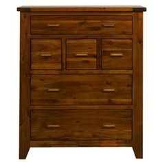 Debenhams Rich Dark Acacia 'Elba' 6 drawer chest- at Debenhams.com reduced from £1000 to £500, shows dark isn't selling very well.
