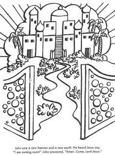 A New Heaven And Earth Bible coloring page for Kids to Learn bible stories