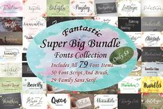 Fantastic Super Big Bundle pollem Co Script Handwritten Fonts, Script Fonts, New Fonts, Font Design, Vector Design, Graphic Design, Professional Fonts, Cricut, Retro Font
