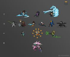 [Pixel Art] - Overwatch Sprites Still missing some, we'll work on it when we get the time ^^ but here's the ones we have finished! Twitter: pic.twitter.com/OOGxzbwMlZ