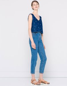 TOP JEANS EYELETS - BLUSE E CAMICIE - DONNA - PULL&BEAR Italia