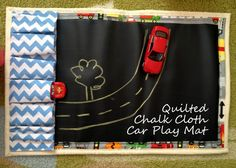 Create a chalk cloth car play mat under 1.5 hours - tutorial from Sew Adorable Fabrics